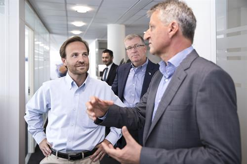Michigan Lieutenant Governor Brian Calley visits with Configit CEO Henrik Reif Andersen at Configit's HQ in Copenhagen, Denmark.