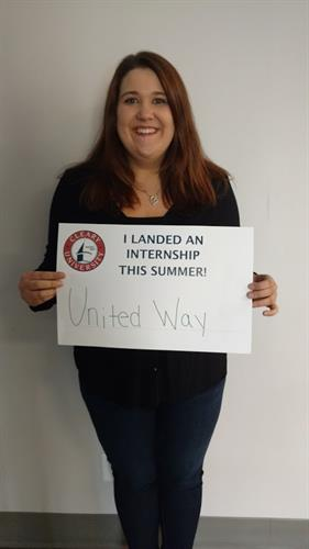 Marie Oleski completed her 2017 internship with United Way!