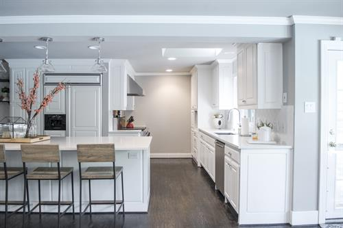 White Kitchen Remodel in Dallas