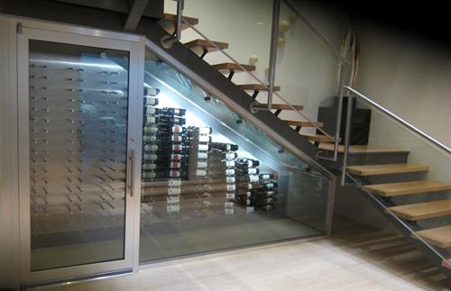 Brown Modern Cellar with Peg System