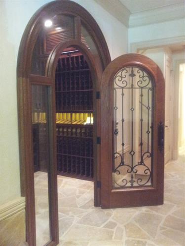 Custom Arched Door with Surround