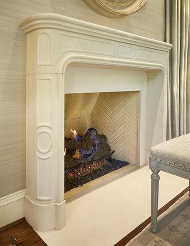 Glendora Fireplace Detail