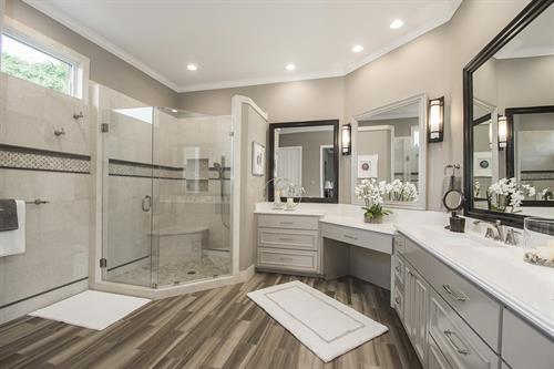 Modern White Bathroom Remodel