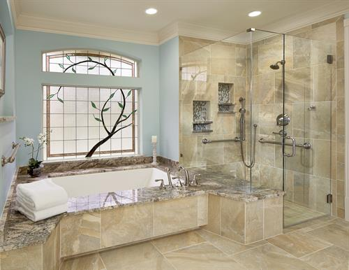 Plano master bathroom