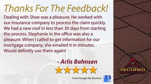 We love our customers and they love us back! Let us perform a FREE roof inspection for you!