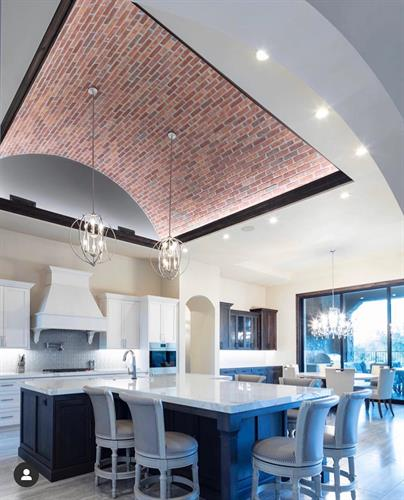 McNear thin brick Tivoli arched ceiling detail
