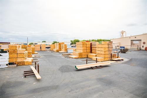 Large podium multi-family production yard