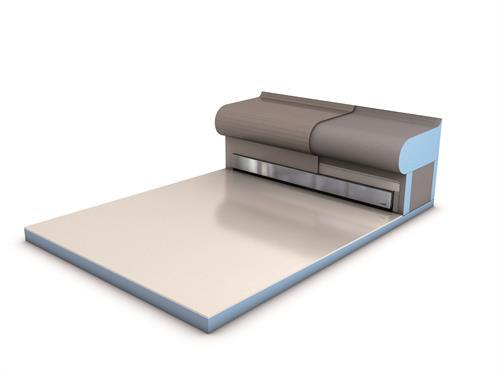 wedi Fundo Riolito Discreoto (linear drain cover in a wall or bench)