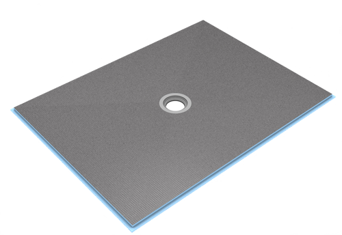 "wedi Fundo Ligno 3/4"" curbless shower pan with no joist modifcations, ADA rated"