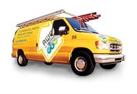 Watch for our bright yellow trucks, and cars, too!