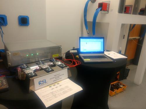 Fiber Optic Distributed Temperature Sensing Demonstration