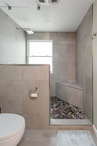 Sophisticated Country Walk-In Shower