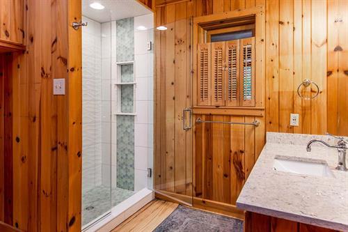 Cozy Cabin Guest Bathroom Remodel