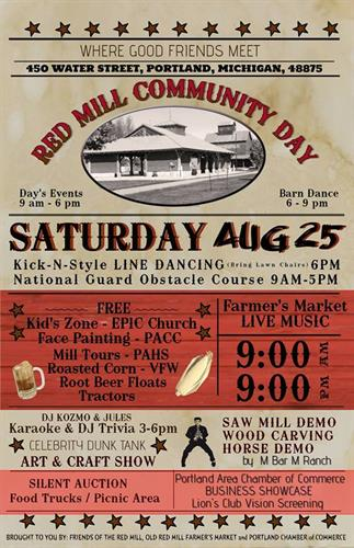 Red Mill Community Day - 3rd Annual - Aug 24, 2019 - MI Portland