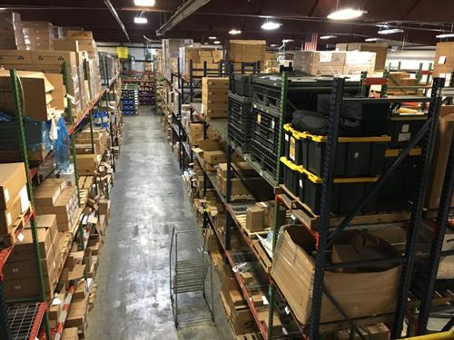 As shot of part of our Toledo warehouse facility!