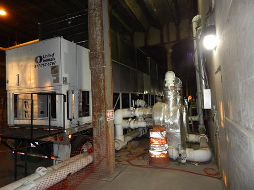 FMC Tower 3-457T air cooled chillers w heat exchangers & high Head pump