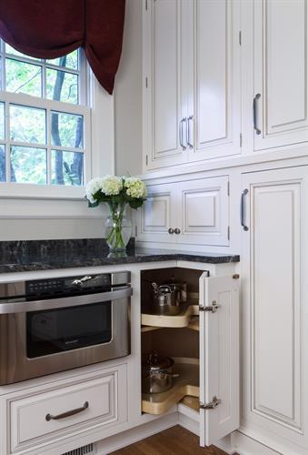 All-wood furniture quality cabinetry.