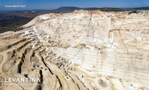 Levantina's Crema Marfil marble Coto quarry in Spain