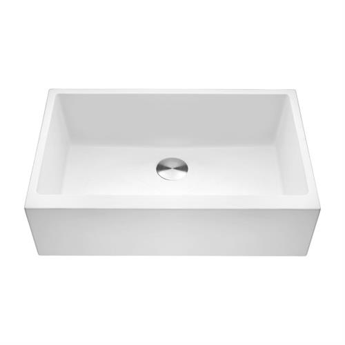 Granite Composite Farmhouse Sink--White