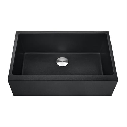 Granite Composite Farmhouse Sink--Black