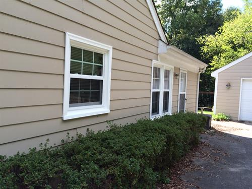 Siding installation in Oberbeck Farms by Belk Builders