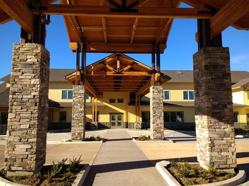 Assisted Living Facility Porte Cochere