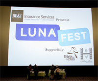 LUNAFEST is our spring event. We'll host it in March at the Angelika Film Center at Mosaic.