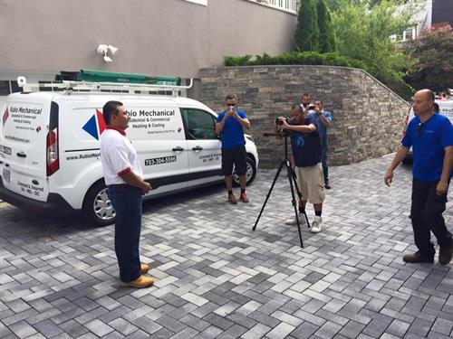 Video shoot.