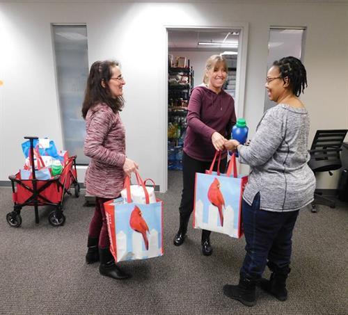 Clients receiving food assistance