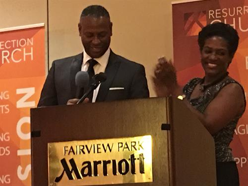 Pastors Ken and Teryl Baker - first year church anniversary