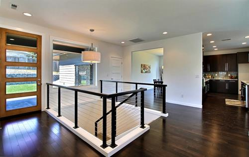 Wire Railing Custom Home