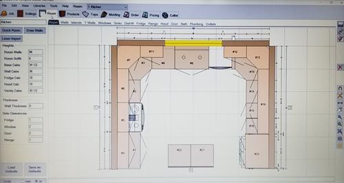 Floor layout on my Laptop computer.