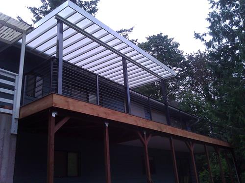 Composite Deck, Patio Cover, and Cable Railing Combination