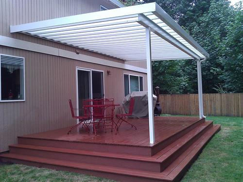 Patio Cover and Deck with wrap around stairs