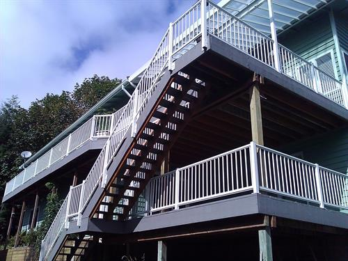 Hand Rail and Patio Cover