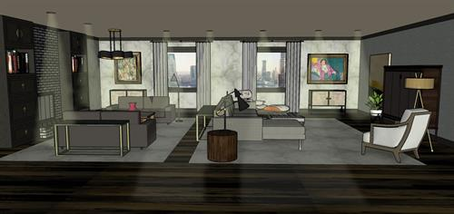 Concept drawing for living room