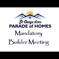Parade Builder Mandatory Meeting