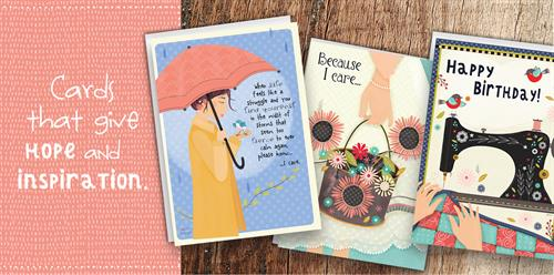 Cards to give hope and inspiration .