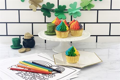 Coloring and cupcake party