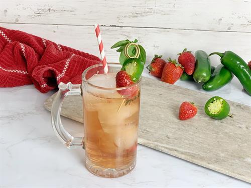 Strawberry Jalapeno cocktail