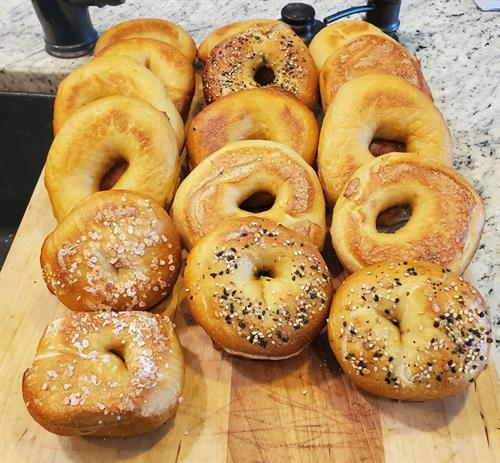 Classic bagels- Plain, Sesame, Everything, Salt, Onion, Garlic and Poppy