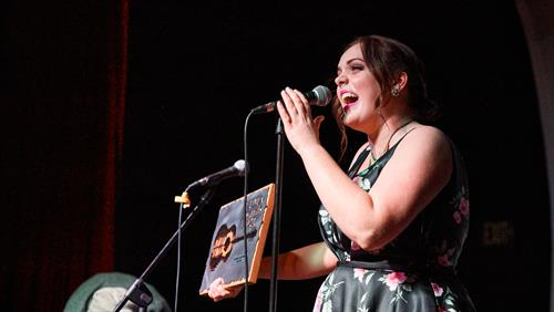 Bee Golding hosts the Local Utah Music Artists (LUMA) Awards Jan 2021. Her main place of events, The Wall, won Favorite Venue.