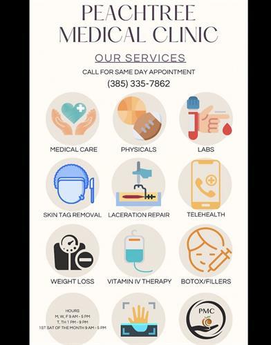We offer plenty of amazing services!