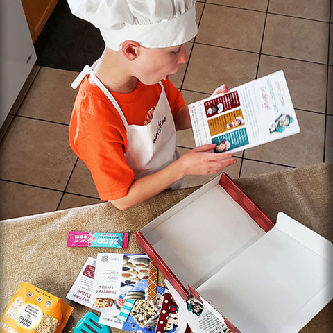 Each box is packed full of recipes, a ChefSmarts skills guide, review activities, themed educational exploration resources, collectible kitchen tools, food samples, and more!