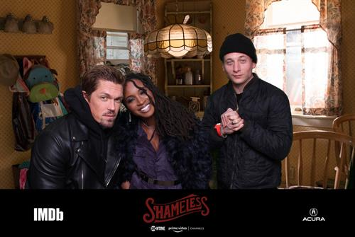 """One of our favorite photos with the cast of Showtime's """"Shameless"""""""