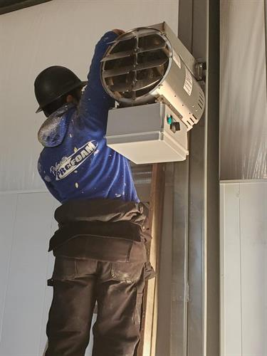 Installing Commercial 460v Hanging Heaters