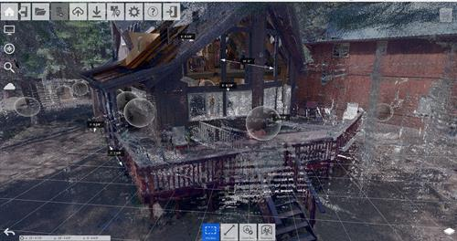 3d Laser scanned residence- point cloud