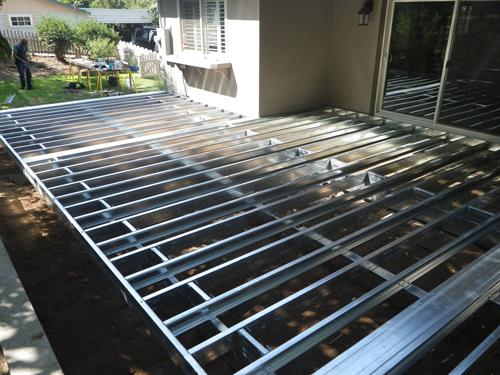 One of our metal deck frames.