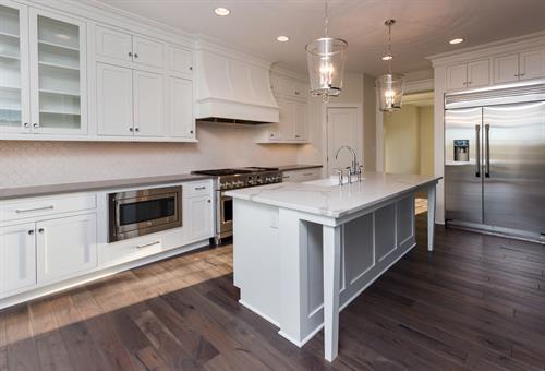 Kitchen with Custom Range Hood