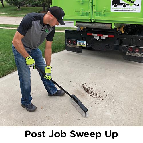 Post Job Sweep Up